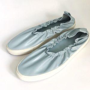 ZARA Basic Collection Blue Stretch Sneaker sz 9